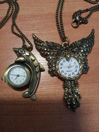Zegarek na szyję antyczne złoto