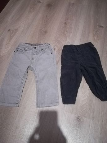 Spodnie chłopięce sztruks