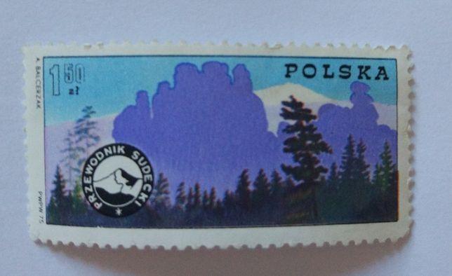 Znaczek pocztowy, przewodnik sudecki.