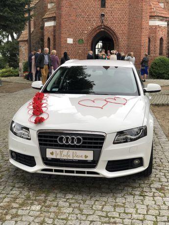 BIAŁE Audi do Ślubu - Wesele - Auto - Limuzyna samochód