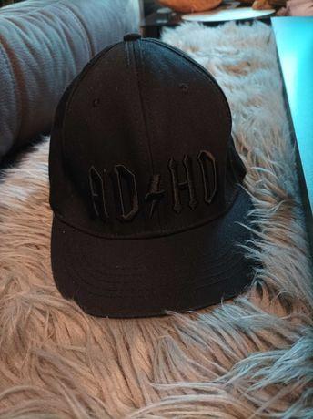 Czapka z daszkiem ADHD czarna bez metek