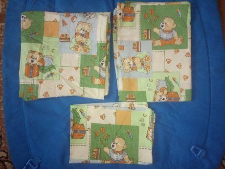 Новый! Комплект постельного белья для детской кроватки