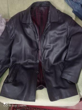 Продам мужской кожаный пиджак р52-54