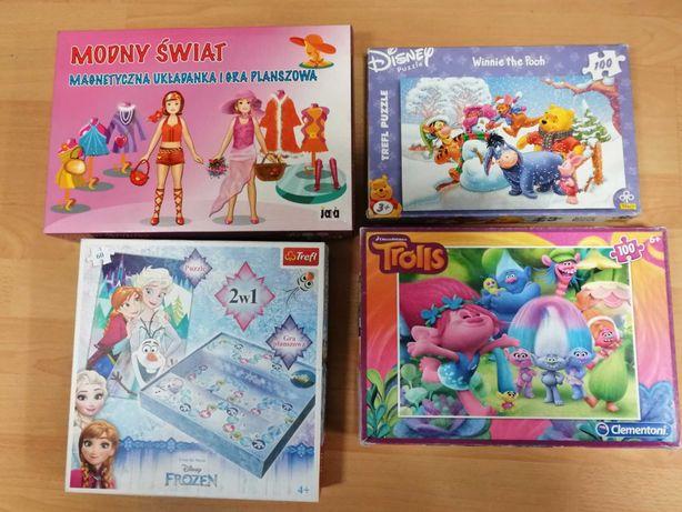 Gry i puzzle dla dziewczynki