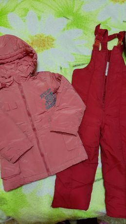 Куртка штаны тёплые полукомбинезон