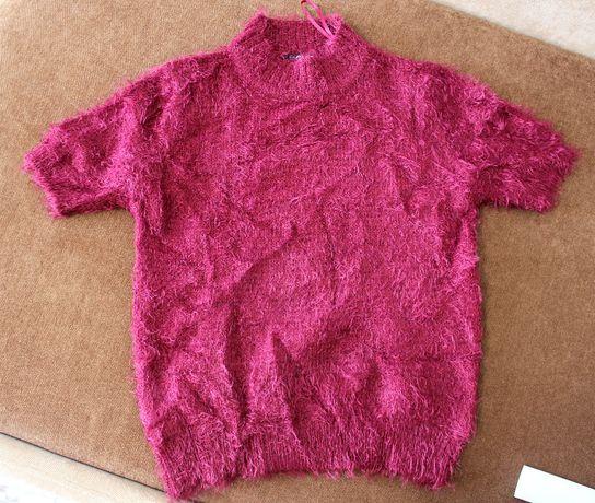 Кофта свитер травка розовый бардовый XS_S