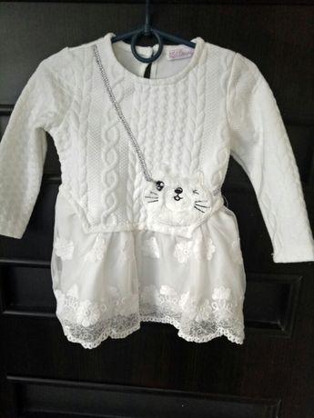 Белое нарядное платье 18м