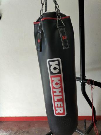 Suporte desmontável + saco em pele de boxe