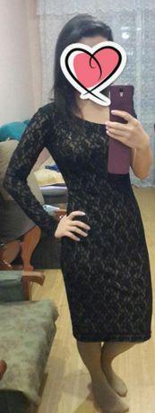 Вечернее платье миди гипюр