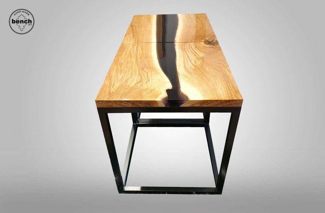 Stolik kawowy ława szafka nocna pomocnik żywica dąb od ręki