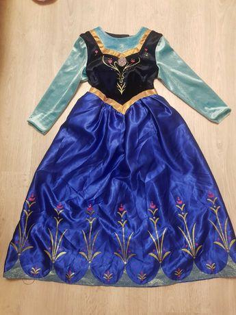 Нарядное новогоднее платье Анна Disney девочке 7-8 л 128 см