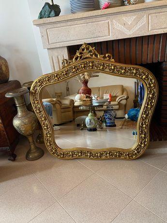 Vendo espelho dourado