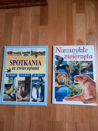 Dwie książki  o zwierzętach  dla dzieci.