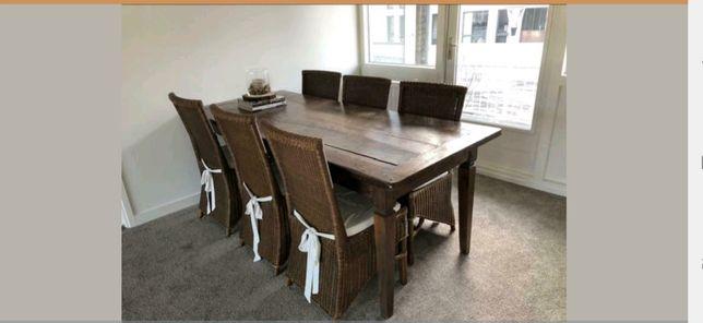 krzesła rattanowe 6szt