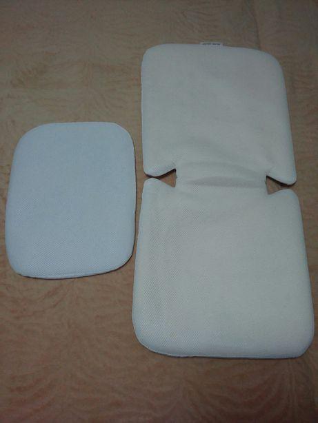 Матрасик и подушка в коляску