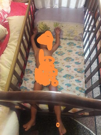 Детская кроватка-люлька с матрасом