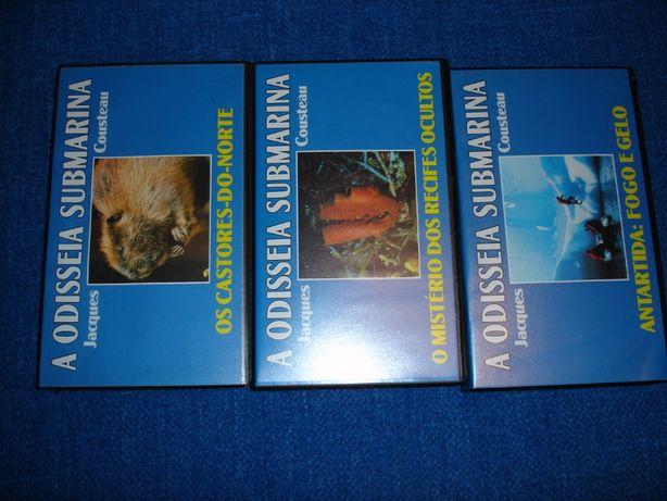 Coleção cassetes da Odisseia Submarina