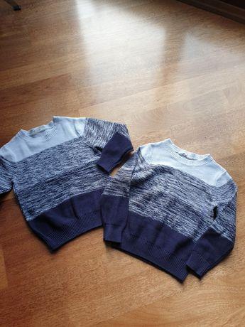 Swetry H&M chłopięce dla bliźniakow rozmiar 122/128