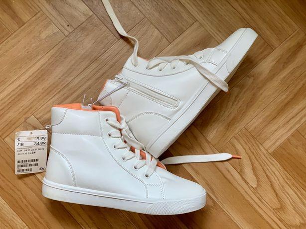 Белые хайтопы H&M