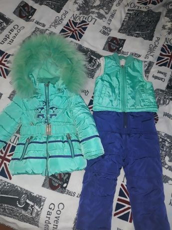 Зимний комбинезон 3 в 1,  штаны, куртка, жилетка