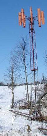 maszt radiowy, wieża, kratownica, słup, konstrukcja stalowa , wiatrak