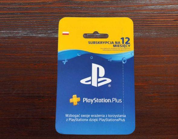 Playstation Plus 12 Miesięcy PS5 PS4   Kod Aktywacyjny Polska  