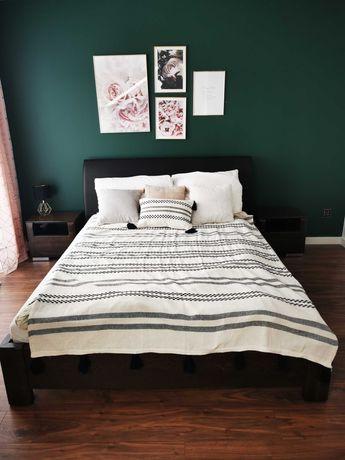 Łóżko sypialniane 160x200 i 2 szafki