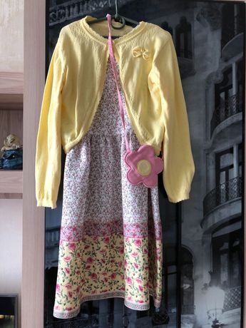 Комплект платье болеро сумочка 9-10