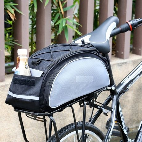 Torba rowerowa na bagażnik z paskiem na ramię 13L