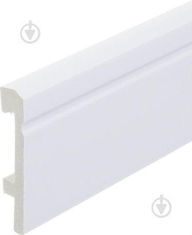 Плінтус King Floor JC60-W1 білий 2000x79x15 мм