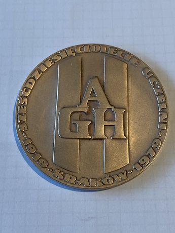 Medal 60 lat Akademii Górniczo- Hutniczej 1979. Mennica Państwowa