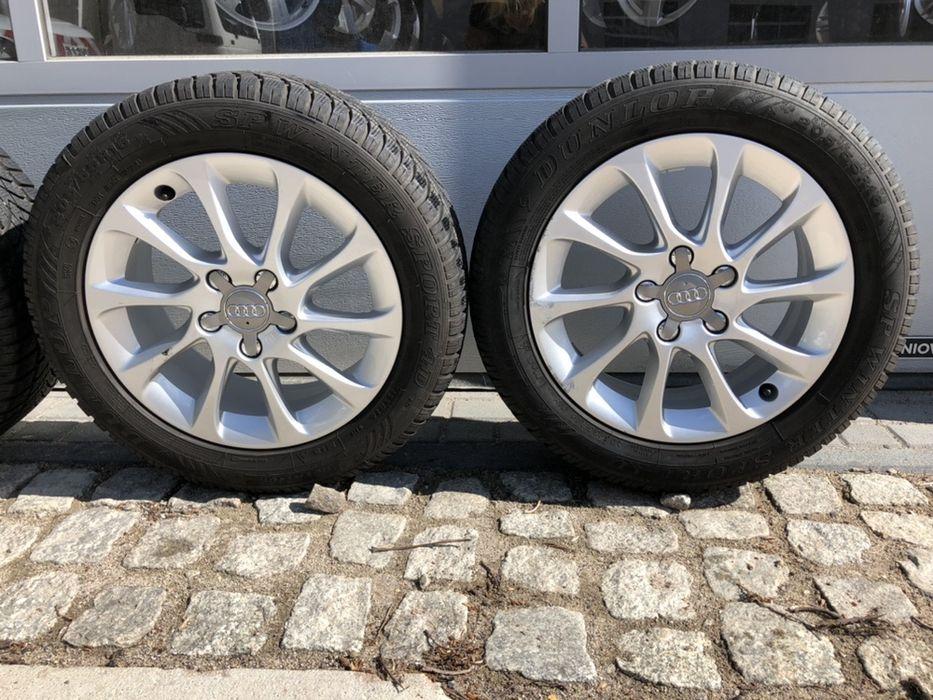 """"""" Alufelgi koła Audi A5 A3 A4 A6 A7 + opony dunlop 205/55r16 """" Wałbrzych - image 1"""