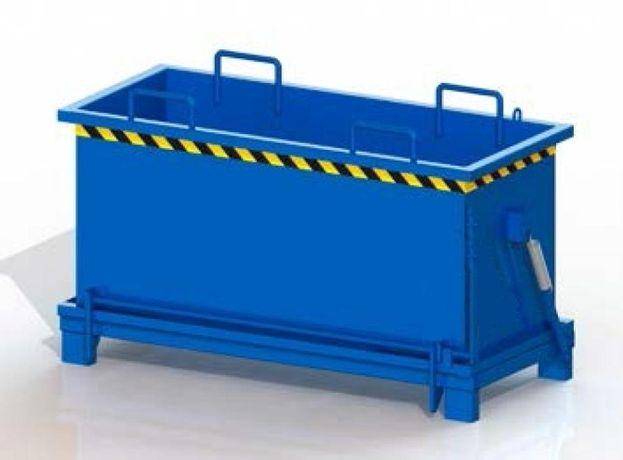 Konkretny zbiornik na odpady z drewna, złomu, tworzyw, PMDC 1100 L