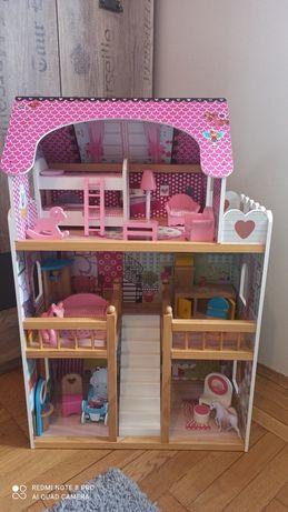 Domek dla lalek biało-różowy