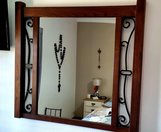 Espelho rustico madeira