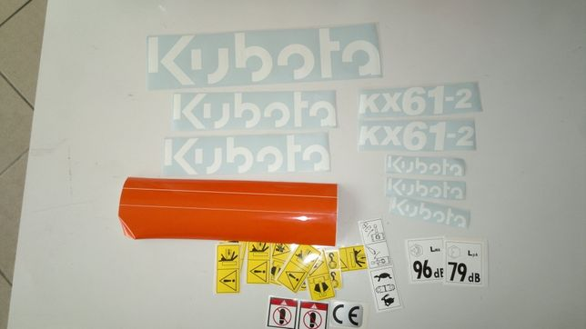 Naklejki kubota KH-31 KX-36-3 KX61-2 Wszystkie modele Kubota