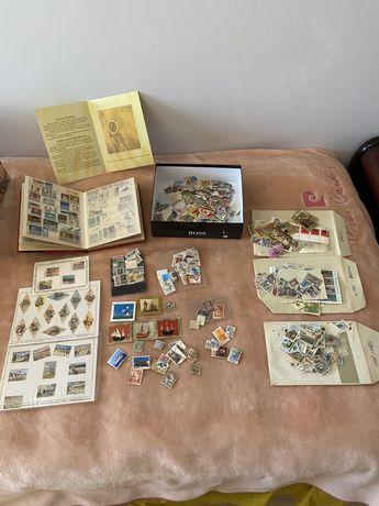 Coleção com dezenas de selo - portugal, angola, são tomé, bagkok