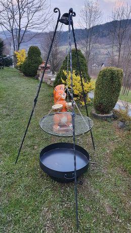 Grill ogrodowy trójnóg 60cm