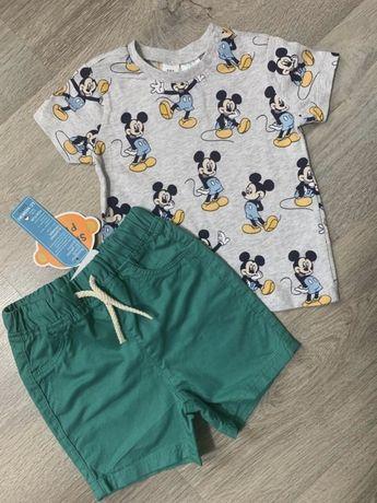 Новый комплект шорты и футболка Disney