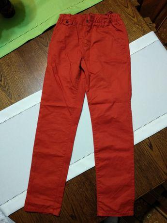 Spodnie Reserved nowe ceglane chłopięce rozm 152