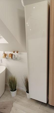 Szafka łazienkowa wysoki połysk Ikea biała