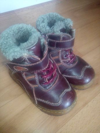 Зима ботинки 24 разм.,натур, кожа и мех.