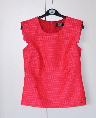 SIMPLE czerwona koszula bluzka 34 XS 36 S