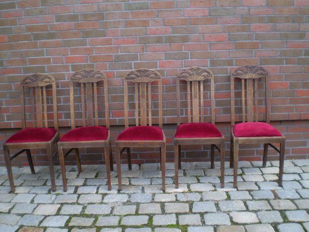 antyk krzesla debowe