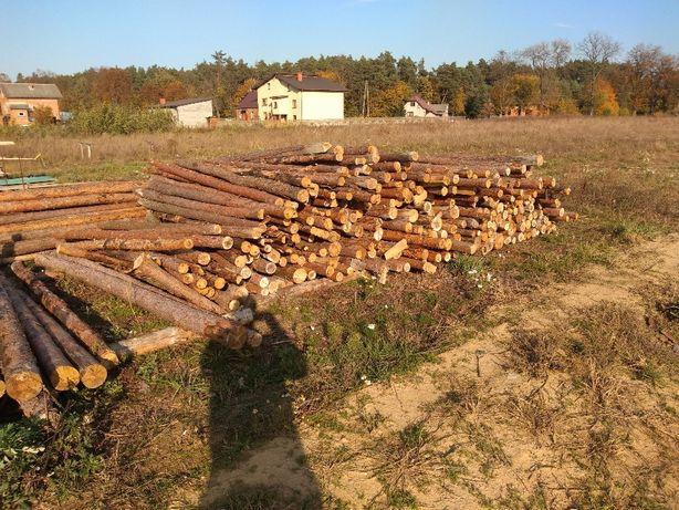 Stemple budowlane drewniane różne długości 2,7-3,3m