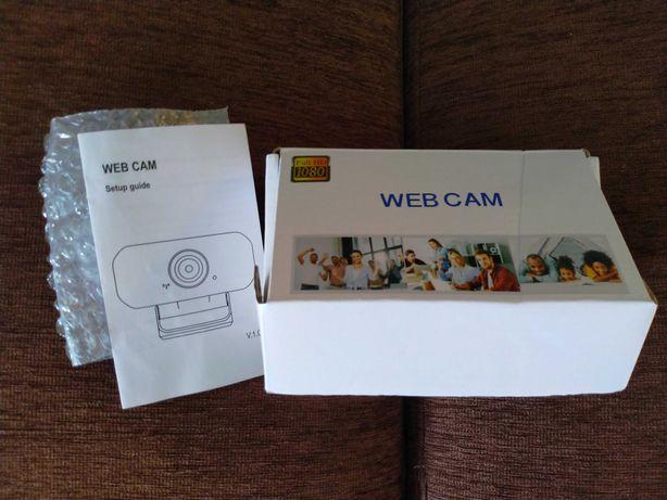 WEBCAM Câmara p/PC ou PC Portátil Full HD, Preta (Raramente Usada)