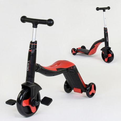 Самокат трансформер 3в1 Беговел - велосипед. Свет, музыка