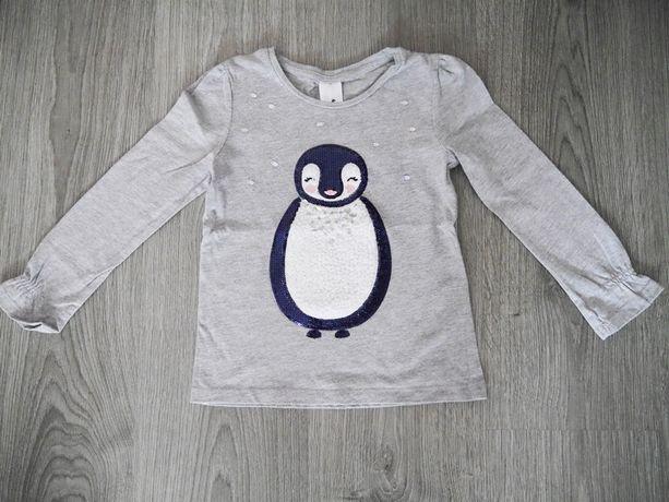 bluzka z pingwinem 116 c&a