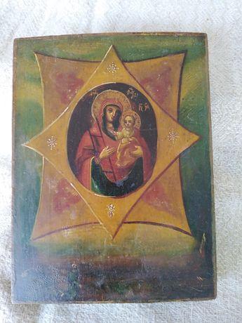 Старинная икона Божья матерь Неопалимая купина