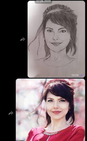 Нарисую портрет по фотографии